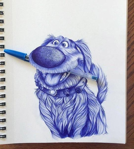 Прикольные рисунки животных ручкой, прикольные надписями