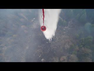 Борьба с лесными пожарами в Тыве