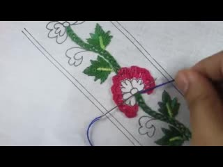 hand embroidery gorgeous border design with new cross stitch