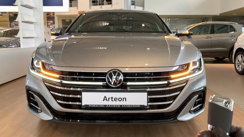 New VW Arteon 2021 crazy LED lights dynamic indicators ambient lights Shooting Brake R Line