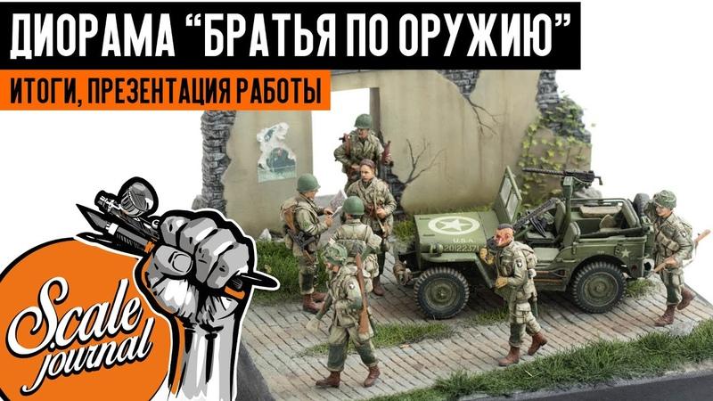 Диорама с американскими десантниками Братья по оружию Диорама своими руками