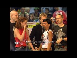 Вручение тарелок . на Премии МУЗ ТВ 2006