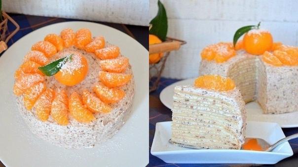Восхитительный Блинный торт с шоколадом - это просто божественно