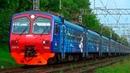 Электропоезд ЭД4М-0396 РЭКС экспресс сообщением Барыбино - Москва Павелецкая