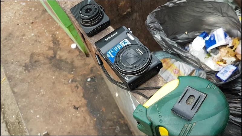Поиск находок в мусорках с народным кандидатом ЛДПР , нашли фотоаппарат видеокамеру