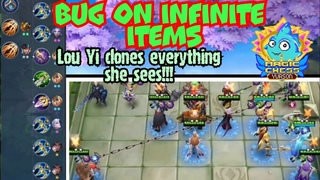 Bug on infinite items, Lou Yi clones everything she sees | Magic Chess Mobile Legends Bang Bang