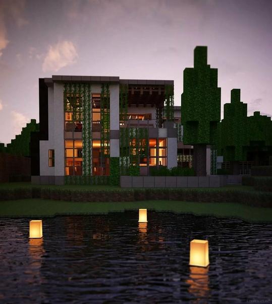 как построить красивый дом а майнкрафте #7