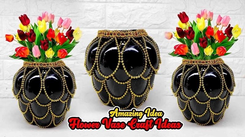 Ide Vas Bunga Dari Sendok Plastik Flower vase from Plastic Spoons Plastic Spoons Craft Ideas