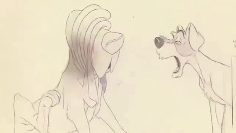 Pencil test Lady and the Tramp Milt Kahl