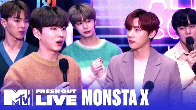 YT 200222 MONSTA X Talks NEW English K Pop Album @ MTVFreshOut