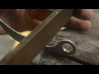 Превращение болта из нержавеющей стали в мини-карамбит