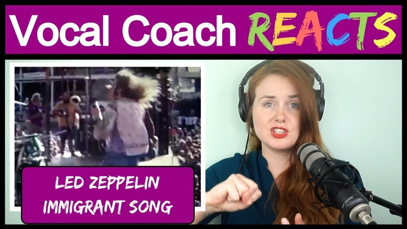 Vocal Coach reacts to Led Zeppelin Immigrant Song Live 1972