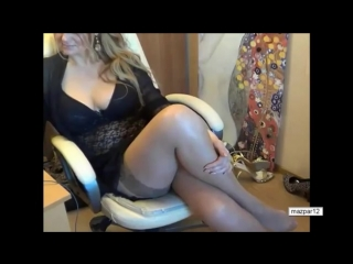 Зрелая красивая сексуальная мамка давалка перед вебкой в чулках милф milf mature большие сиськи грудь домашнее sexy