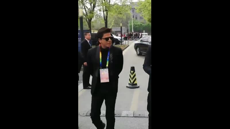 SRK at the closing ceremony of Beijing International Film Festival today.