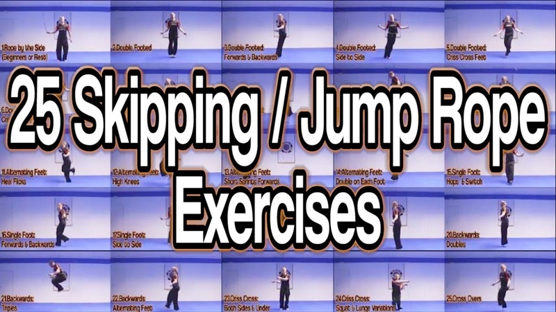 25 Skipping/Jump Rope Variations | Lose Weight Improve Cardio