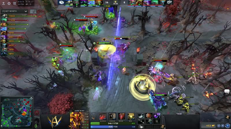 Team Spirit vs Evil Geniuses Game 1