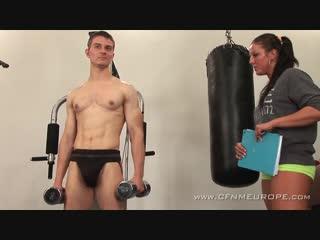 [CFNM] Fitness Coach [Femdom, Strapon, Pegging, 720p]