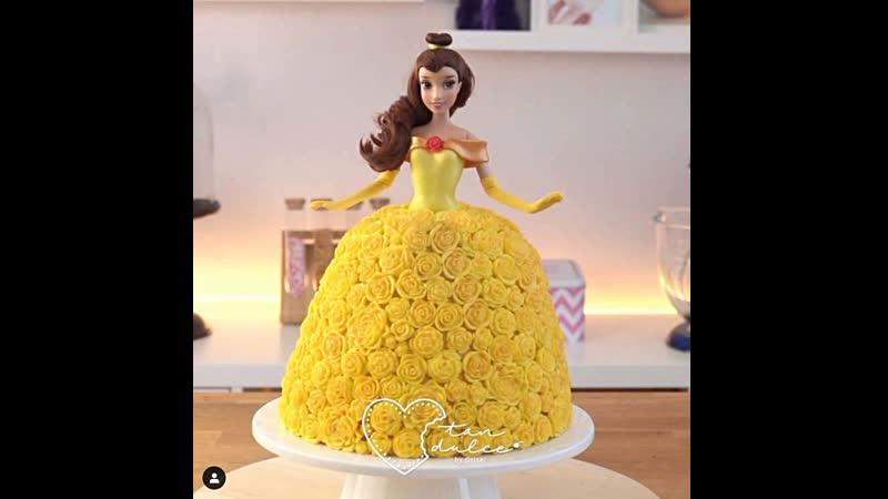 Как украсить торт Кукла. Наша группа в ВК Торты на заказ. Мировые шедевры.