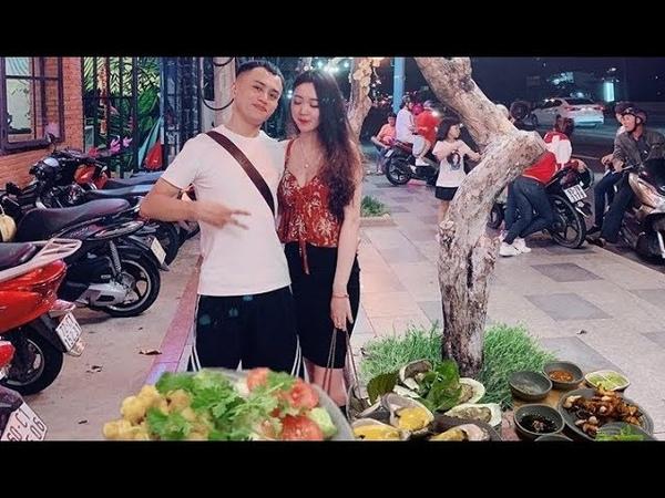 Tuan Travel Lần đầu tiên ăn quán vũng tàu cực kỳ ngon Cá sòng , bạch tuộc nướng hàu to mù tạt