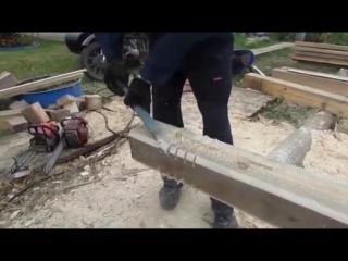 Строительство бани (насадка на бензопилу) - Заметки строителя