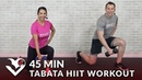 45-минутная смешанная тренировка всего тела Табата. 45 Min Tabata HIIT Workouts for Weight Loss Strength - Full Body Workout at Home with Weights