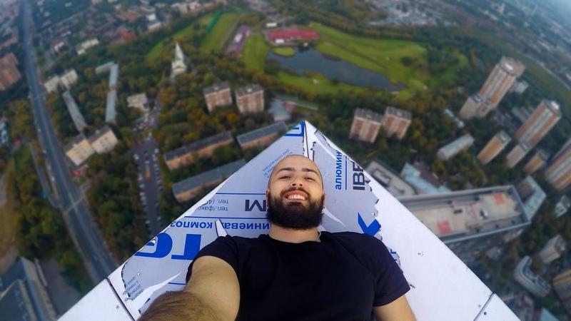 Руферы пробрались на крышу через пентхаус Стаса Михайлова 215 метров