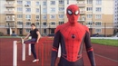 Training with spiderman тренировка вместе с человеком пауком