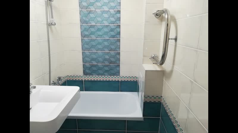 Ул. Гагарина. Выполнен ремонт ванной комнаты