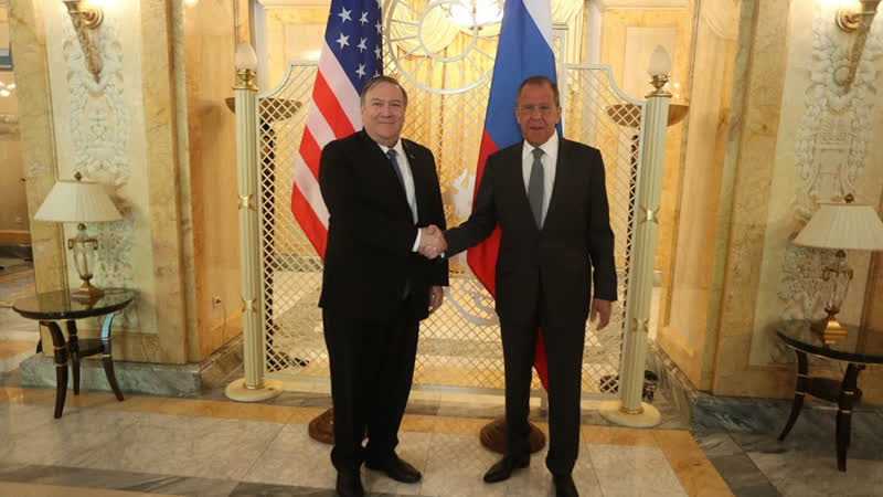 Переговоры С В Лаврова и Государственного секретаря США М Помпео