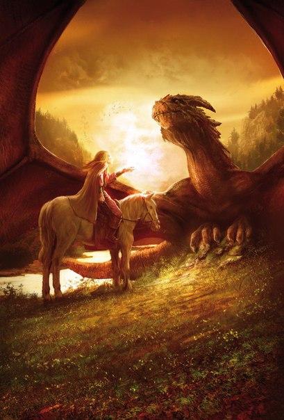 Дракон и настоящий принц - Эй, ты, чудовище! Выходи! Из пещеры высунулась заспанная голова Дракона и уставилась на человеческую фигурку. - Чего орешь - Ты - Дракон, стерегущий Принцессу - Ну,
