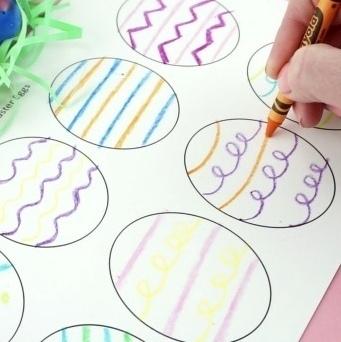 ПОДЕЛКИ НА ПАСХУ ДЛЯ ДЕТЕЙ. Пасхальный венок из одноразовой картонной тарелки. Шаблоны прилагаются.