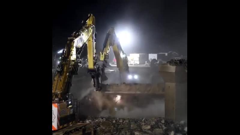 За ночную смену разобрали мост
