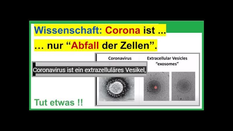 Neueste Nachricht aus der Wissenschaft Corona ist nicht das was wir glauben sondern nur Abfall