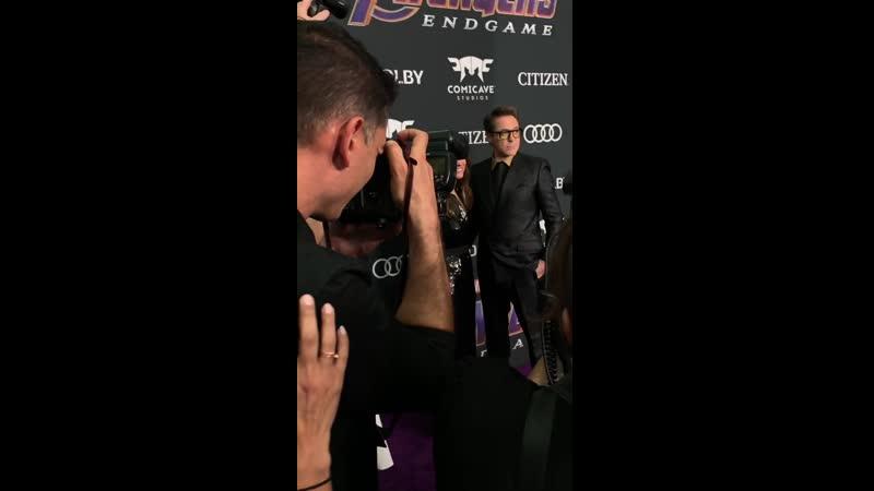 Роберт Дауни мл На премьере Мстители