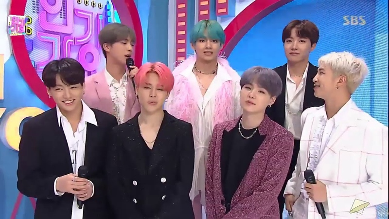 [190421] BTS (방탄소년단) Comeback Interview Boy With Luv @SBS Inkigayo Live