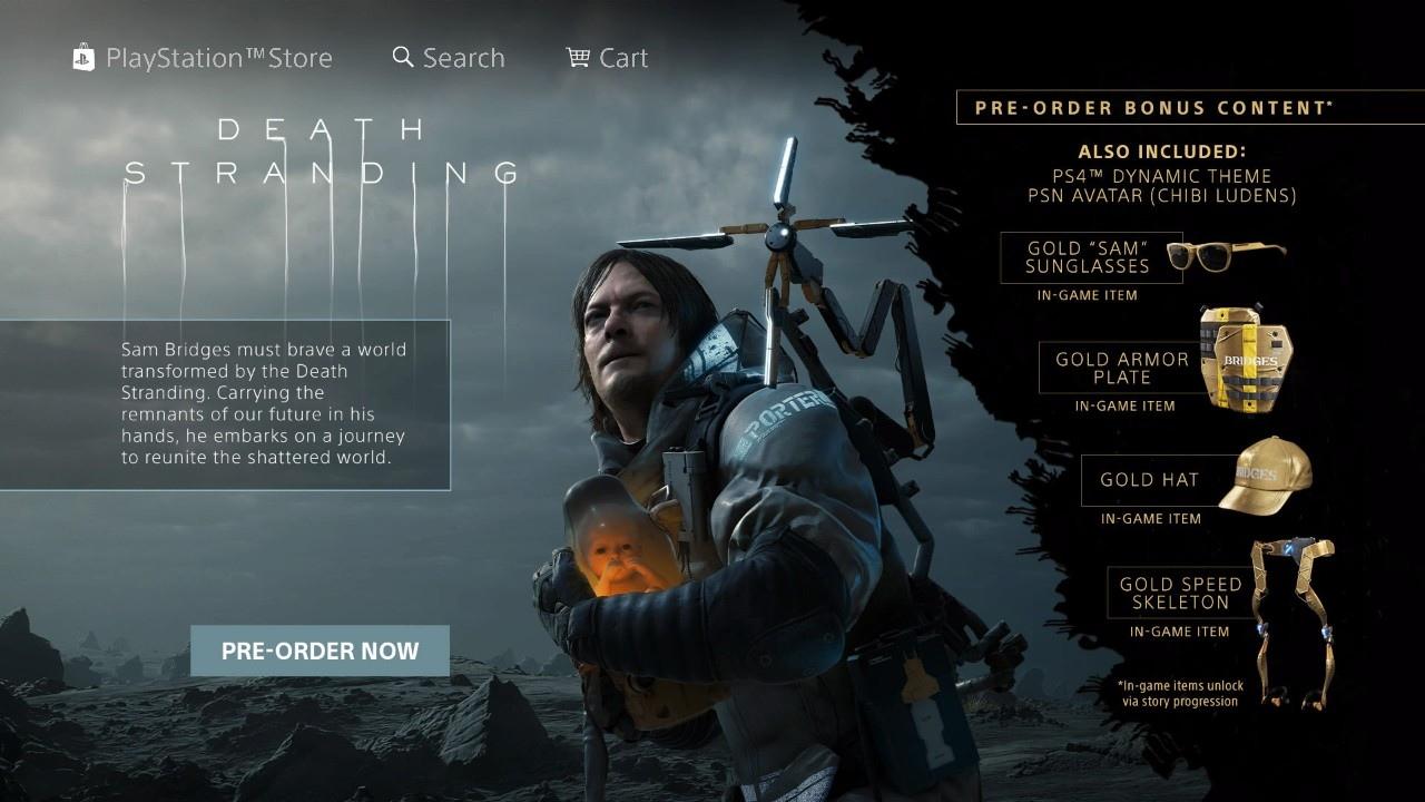 Death Stranding - предзаказ в PS Store