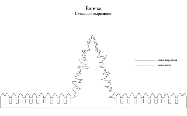 Праздничная поделка: Нарядная ёлочка Схема для вырезания прилагается.