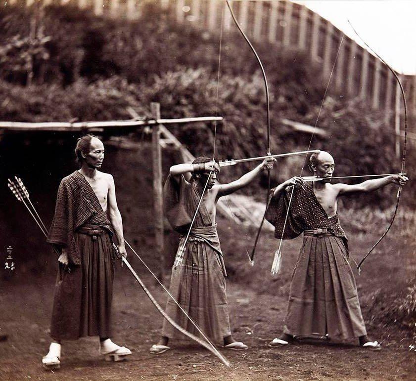Утренняя тренировка, Япония, 1890 год.