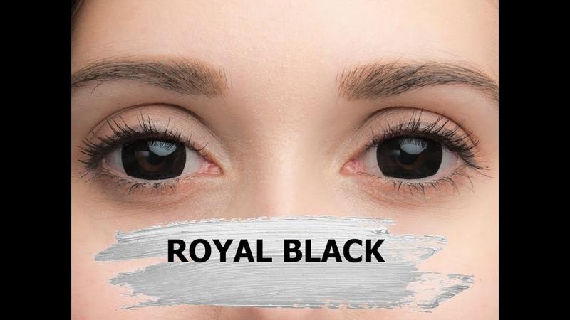 Черные crazy линзы Royal Black Lensmam Корея