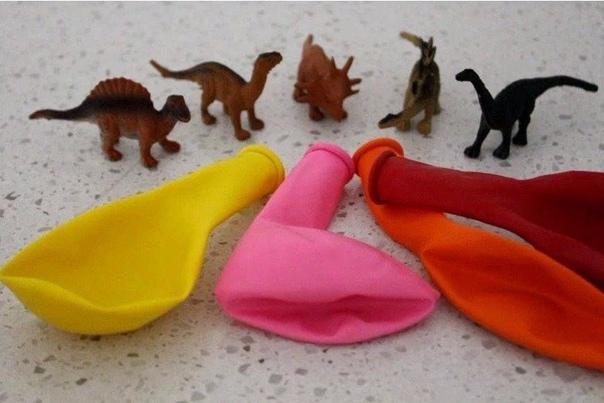 Летние поделки. Замерзшие яйца динозавров.