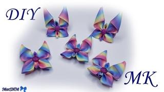 DIY Hair Clip Butterfly   Ribbon Bow   МК Канзаши Заколочки бабочки из лент