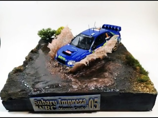 Полный цикл изготовления диорамы с гоночным автомобилем Subaru Impreza . Автор и ведущий: Кирилл Колосков. : i goods model avto moto tamiya