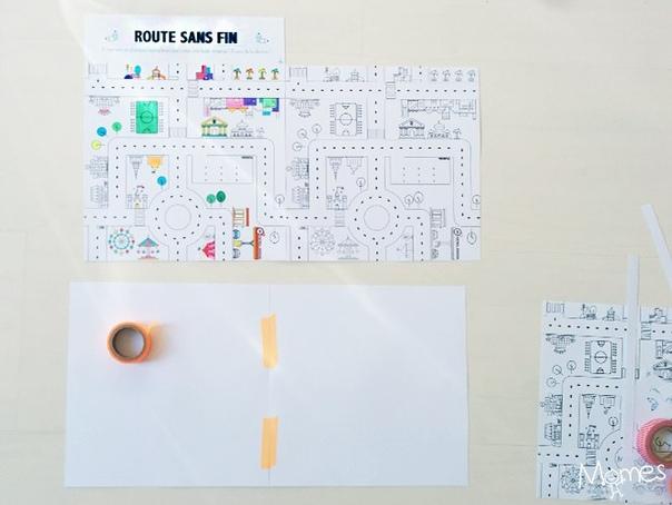 БЕСКОНЕЧНЫЙ ГОРОДОК Задумка очень интересная! Можно создать гигантское игровое поле, распечатывая единственный элемент столько раз, сколько захотите.Распечатайте шаблон, вырежьте и раскрасьте
