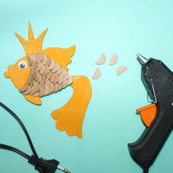 ПОДЕЛКИ ИЗ КАРТОНА ДЛЯ ДЕТЕЙ. Загадывайте желание! Наша золотая рыбка его обязательно исполнит