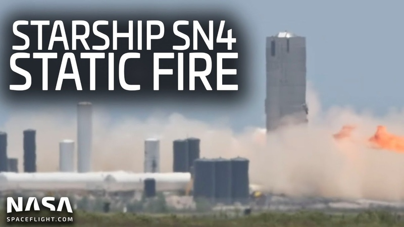 Full Replay: Starship SN4 suffers major anomaly after static fire in Boca Chica