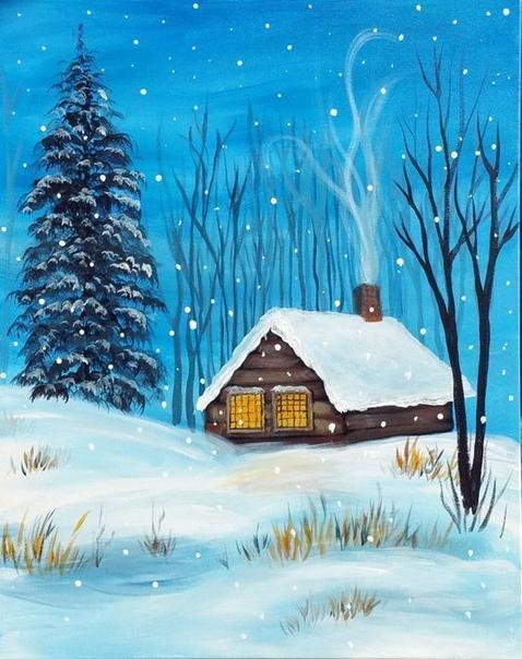 Рисование: Сказочная зимушка Идеи.