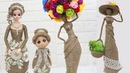 5 Beautiful Jute craft doll | How to decorate doll from jute rope | 2