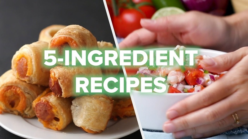 5 Recipes Using ONLY 5 Ingredients Tasty Recipes