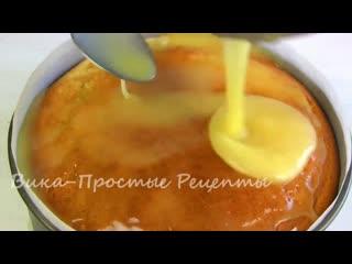 Простой Шедевр из Ничего!Янтарный Яблочный Пирог-Торт. (Ингредиенты в описании видео)