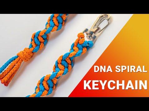 Как сделать брелок спираль ДНК | DIY | Урок макраме - паракорд для начинающих